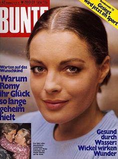Romy Schneider - Bunte Magazine [Germany] (9 October 1975)