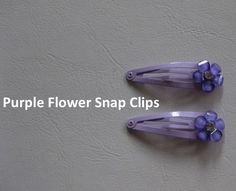 Purple Flowers on Snap Clips