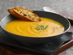 Apple Cinnamon Butternut Squash Soup recipe from Betty Crocker