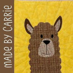 Liz Llama Applique Pattern – Shiny Happy World