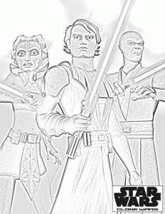 Clone Wars printable coloring pages