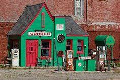 Former Conoco station in Commerce, Oklahoma