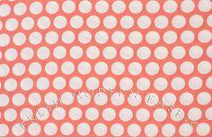 Fat Quarter Reverse Dots in Coral, Mod Basics, Birch Fabrics, 100% Certified Organic Cotton