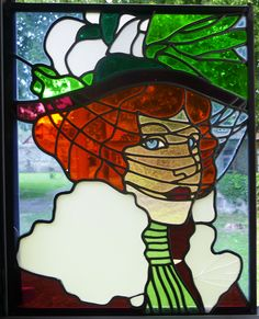 Details about c.1890 Antique ART NOUVEAU Stained Glass OTTO WAGNER