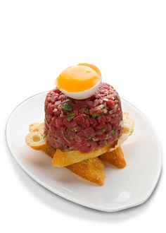 Steak tartare is another uniquely French food. http://foodmenuideas.blogspot.com/2013/10/bon-appetite-french-food-not-to-be.html