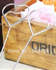 Heart shape card holder photo clip name note memo stand without any support DIY office supply home decoration desk gift CN post $13.40