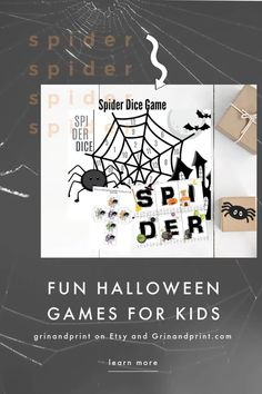 Looking for some fun Halloween Games to play? Do you need a Halloween Party Game or Activities for kids during the Fall? Then this is an easy game to set up and print from home.  We want you to have fun with your family this Fall and Halloween.  Spiders are Spooky and Scary but our Spider is kid-approved.  #halloweenparty #halloweenkids #halloweenpartygameskids #halloweenactivities #spider Autumn Activities For Kids, Halloween Games For Kids, Halloween Activities For Kids, Halloween Party Games, Halloween Fun, Printable Games For Kids, Party Printables, Kids Party Tables, Spiders