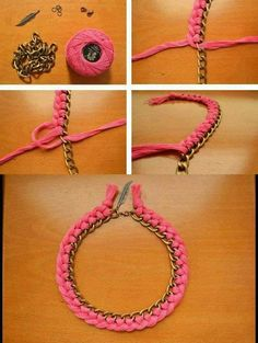 DIY necklace and earrings tutorials are fun! Find best DIY Jewelry ideas with step-wise tutorials for handmade earrings and necklaces. Necklace Tutorial, Earring Tutorial, Diy Necklace, Crochet Necklace, Collar Necklace, Diy Tutorial, Necklaces, Pearl Necklace, Braided Necklace