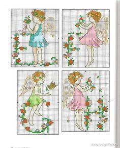 Alphabet Fairies - 3/8 Solo Patrones Punto Cruz (pág. 436) | Aprender manualidades es facilisimo.com