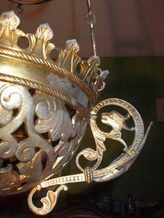 Art Nouveau NeoGothic Hanging Lantern SOLD: Au Fil de l'Eau Antiques