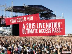 @LiveNation Check out this Ultimate Spring Live Nation® Ultimate Access Pass™ Giveaway