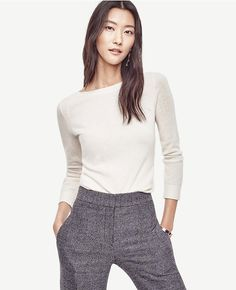 Primary Image of Wool Cashmere Boatneck Sweater