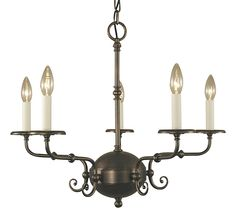 Jamestown 5 Light Candle Chandelier