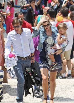 June 2013.  Family values: Ivanka and her husband Jared Kushner show their daughter Arabella around Italy during their Italian vacation in Rome in June