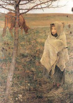 """""""Pauvre Fauvette,"""" 1881, by Jules Bastien-Lepage"""