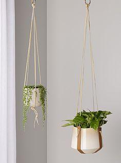 Set of 2 leather plant hangers | M Forioso | | Simons