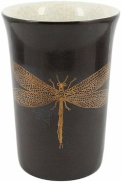 HomArt Porcelain Ceramics Cup, Gildt Dragonfly, Brown by HomArt. $14.30. Measures 2-3/4-inch diameter by 4-inch height. Available in brown color. The cup is hand made by artisans. Attractive and functional gildt dragonfly cup. Enhance your home and life with this porcelain gildt dragonfly cup. This exclusive collection of refined yet affordable home accessories is created for everyday use from all-natural, recycled and new materials, simple and tastefully designed to comfortably...