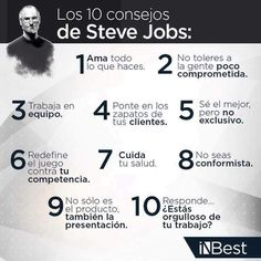 Los 10 consejos de Steve Jobs