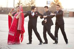 Toronto Indian Wedding by Aamer Kapadia Bollywood Wedding, Desi Wedding, Wedding Pics, Wedding Stuff, Wedding Ideas, Bollywood Style, Wedding Goals, Wedding Groom, Indian Bridal Party
