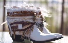 Upcycled Custom REWORKED vintage feathered boho by TheLookFactory