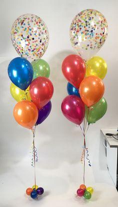 Birthday Cake Girls, Birthday Balloons, 4th Birthday, Birthday Wishes, Clear Balloons, Confetti Balloons, Balloon Ideas, Balloon Decorations, Carnival Birthday Parties