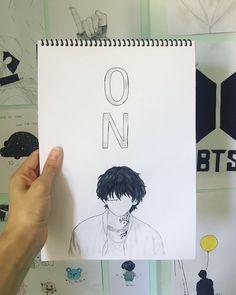 Kpop Drawings, Art Drawings Sketches Simple, Pencil Art Drawings, Taehyung Fanart, Korean Art, Bts Chibi, Anime Art Girl, Art Sketchbook, Bts Wallpaper