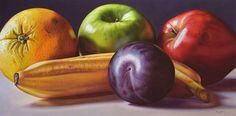 Ellery Gutiérrez, venezolano.. Fruit Photography, Fruit Painting, Realistic Paintings, Fruits And Veggies, Mobile Wallpaper, Beautiful Artwork, Food Art, Colored Pencils, Still Life