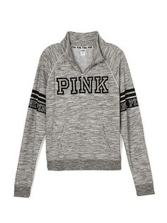 d036fe4b972 Boyfriend Half-Zip - PINK - Victoria s Secret - shirts
