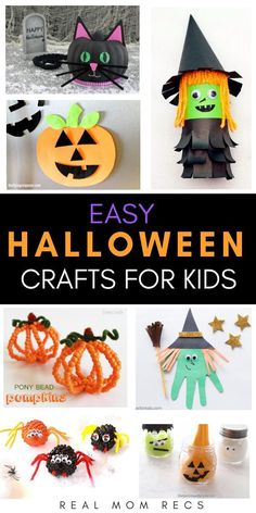 Cute and simple Halloween crafts for kids to make! Toddler, preschooler and kind… Cute and simple Halloween crafts for kids to make! Toddler, preschooler and kindergarten ideas. Art projects so easy even non-crafty moms can do them. Halloween Tags, Diy Halloween Party, Halloween Crafts For Kids To Make, Halloween Art Projects, Halloween Activities, Diy Crafts For Kids, Scary Halloween, Halloween Crafts For Kindergarten, Halloween Decorations For Kids