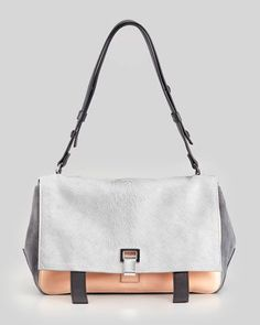 PS Courier Shoulder Bag, Gray/Pink by Proenza Schouler at ...