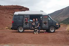 vanlife couple and their dog