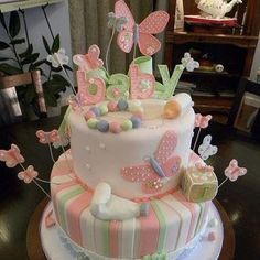 Butterfly cake.
