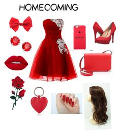 """Homecoming"" by sillygirl14 on Polyvore featuring Jessica Simpson, Alexander Wang, claire's, L. Erickson, Lime Crime and Barneys New York"