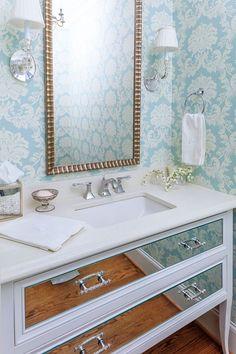 280 Wallpapered Bathroom Ideas Beautiful Bathrooms Bathroom Design Bathroom Wallpaper