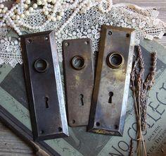 Reserved For Jillie  Ornate Door Knob Back Plate  Fancy ESCUTCHEON Plate   Old Door Hardware Salvaged Door Plate  Victorian Front Door | Door Knobs,  ...