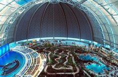 Tropical Islands just outside Berlin.  The largest water park in Europe... One of the best getaways I had on tour!