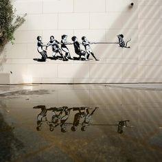 Juxtapoz Magazine - Street Art in the Middle East: Dubai Walls Blek Le Rat, International Artist, Street Art Graffiti, Middle East, Ceiling Lights, Dubai Uae, Walls, Magazine, Urban