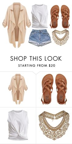 """Untitled #241"" by dreamgurl-846 on Polyvore featuring Billabong, VILA and Topshop"
