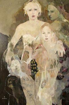 The Woman Gallery: Françoise de Felice - Born 1952 Art And Illustration, Figure Painting, Painting & Drawing, Collage Kunst, Art Amour, Figurative Kunst, Kunst Online, Art Design, Love Art