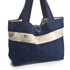 Denim purse. I really like the shape of this bag.