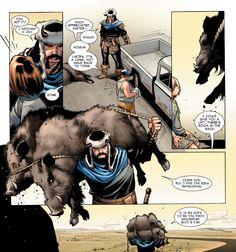 (Thor v3#6)  Hahahahahaha!  Frickin' Hogun!  Why can't they portray movie-Hogun like this?