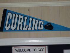 simple curling pennant @ Granite Curling Club..