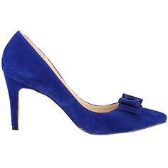 Zbeibei Women's High Heels Pointed Toe Cute Bowknot Faux Velvet Pumps(ZBB95219VE41blue) - http://all-shoes-online.com/zbeibei/9-5-b-m-us-zbeibei-womens-high-heels-pointed-toe-cute-10