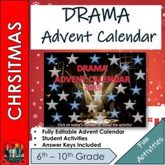 Brand New 2019 Interactive Science Christmas Advent Calendar for elementary and high school Students. A very stylish Christmas themed interactive powerpoint with 24 numbered boxes - Each **school day **will link to a fun and engaging task/ challenge / game or activity - these activities are either C... Christmas Themes, Christmas 2019, Christmas Calendar, High School Calendar, Calendar Bulletin Boards, Challenge Games, Drama, Advent Calenders, High School Students