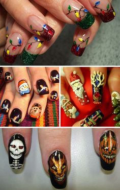 Holiday Nails: Going to have to look through this site and see how many of them could become pedicures. :)