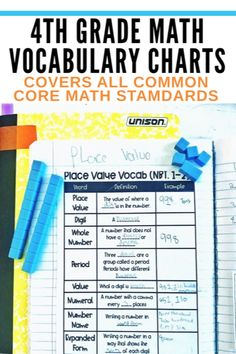 Do you use charts in math to help teach math vocabulary? These charts will help your students learn and have access to so much math vocabulary! This bundle includes math charts for geometry, measurement, fractions, base ten operations & operations and algebraic thinking. These are perfect to put in a math notebook for easy access for students to review during math block. Science Anchor Charts, Math Charts, Kindergarten Math Activities, Math Resources, 5th Grade Math, Fourth Grade, Grade 3, Help Teaching, Teaching Math