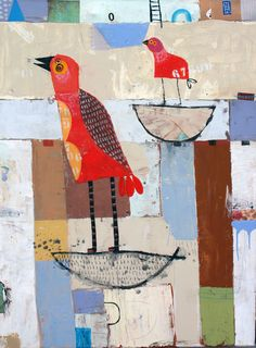 Love this little bird collage by Nathaniel Mather! I want to bring more animal life into my art journal!