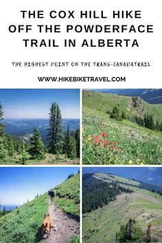The Cox Hill hike off the Powderface Trail in Alberta - and you get to the highest point on the Trans-Canada Trail. Easy day hike from Calgary Hiking Trips, Backpacking, Vacation Places, Vacations, Travel And Leisure, Travel Tips, Alberta Travel, Discover Canada, Canadian Travel