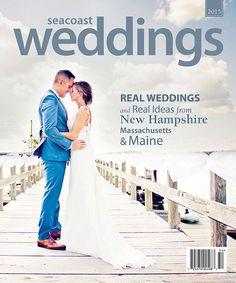 Jennifer and Tyler on the cover of Seacoast Weddings Magazine photo by:  Kim Chapman Photography #mainewedding #seacoastweddings