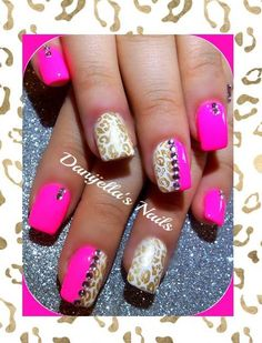 #animalprint Cheetahprint #leopardprint #zebraprint #nailart #nailartdesigns #nails
